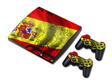 PS3 PlayStation 3 Slim Skin Design Foils Aufkleber Schutzfolie - Spanish Soccer