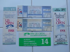 Lot 6 Vintage US Open Tennis Ticket Stubs Club Pass 1991 1993 1994 1988 was $375