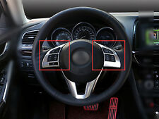 2pcs ABS Matte Car Steering Wheel Cover Trim For Mazda 6 M6 Atenza 2013-2015