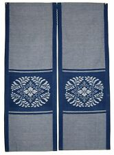 "Japanese Traditional Noren    32.5""W x 47""L newly hand woven Kasuri fabric"