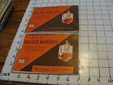 BAND BOOKS: 2 Bandmaters folio of COLLEGE MARCHES for 1st 2nd Eflat HORNS /ALTOS