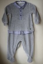 GUCCI BABY IN VELLUTO GRIGIO Look a Strati Babygrow 9-12 mesi