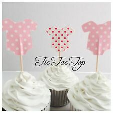 12 x Girl Baby Shower CUPCAKE FOOD TOPPER Pick. Party Supplies Cake Lolly Bag