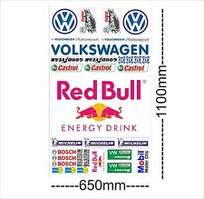 VW Logo Autoaufkleber Sponsoren Marken Aufkleber Decals Tuning Sticker Set