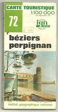 Carte Touristique IGN 72 1:100 000 Béziers - Perpignan