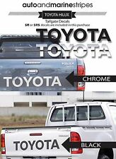 TOYOTA HILUX CHROME Tailgate decals including  SR5 sticker