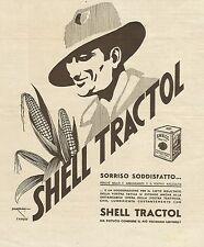 W3008 Lubrificante Shell Tractol - Illustratore Sorgiani - Pubblicità 1935 - Adv
