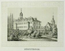 Tonlithografie - FALKENHAIN Rittergut Kühnitzsch - Poenicke
