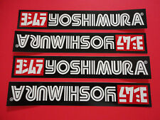 "Four - 7"" Yoshimura sticker decals. Genuine & new."