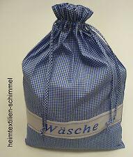 WÄSCHESACK Wäschebeutel Sack Wäschenetz Wäschetasche Beutel Wäsche blau 45x65cm