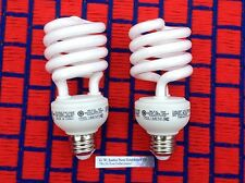 BOX of 2 ~ GROW LIGHT BULB 2700K  fluorescent CFL 26w rated for DAMP LOCATIONS