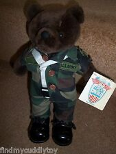 NEW USA BEAR FORCES OF AMERICA US ARMY RANGER  US ARMY SOLDIER CAMO SOFT TOY