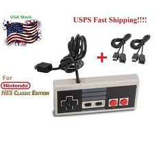 CONTROLLER FOR NINTENDO NES CLASSIC MINI EDITION + 2X 10 FT EXTENSION CABLE