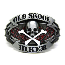 Vintage Gothic Punk Old Skull Skeleton Belt Buckle Mens Cowboy Biker Motorcycle