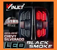 2014-2016 Chevy Silverado LED Tail Lights Black/Smoke Winjet WJ20-0383-05