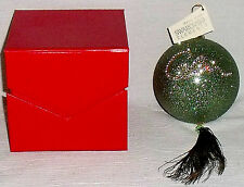 HSN Swarovski Ornament Cares 2010 COLIN COWIE Peacock Feather NEW in Box