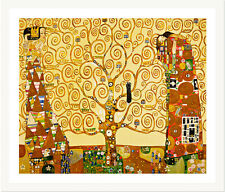 The Tree of Life by Gustav Klimt 75cm x 62cm Framed White
