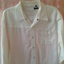 Men's Shirt Micros Clothing Co. Size XLarge White With Snaps100% Cotton Emblem