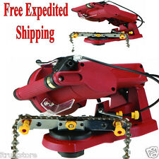 Electric Chain Saw Sharpener Grinder Chainsaw Mount to Bench Wall or Vise New