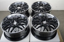 "17"" Black Effect Wheels Rims 4 Lugs Ford Escort Honda Civic Accord Corolla Jetta"