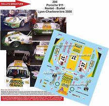 DÉCALS 1/18 réf 294 Porsche 911 Nantet - Burlet Lyon-Charbonnière 2000