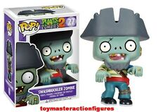 FUNKO POP 2013 PLANTS vs ZOMBIES 2 SWASHBUCKLER ZOMBIE #27 Vinyl Figure In Stock