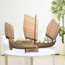 Scale 1/148 Laser-cut Wooden Ship Models Kits Chinese Antique Sailboat
