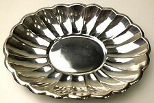 "Reed & Barton Dish Silver Plated 10"" Oval Bread 113 Plate Holiday Bowl Server"