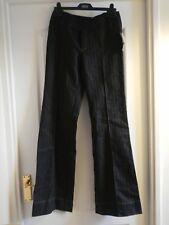 wide leg long Mango chinos suit trousers tuxedo pants black pinstripe creased