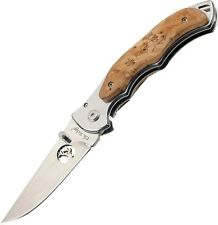 Elk Ridge Maple Onlays Framelock Pocket Knife ER-519 Mirror Polished Handles