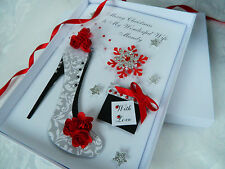 Personalised Handmade Christmas Card Wife,Mum,Friend,Sister Gift Box