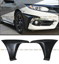 FOR 2016-17 10TH HONDA CIVIC 2DR COUPE OE STYLE FRONT BUMPER SIDE SPLITTERS LIP