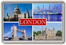 FRIDGE MAGNET - LONDON - Large - TOURIST 4 Red