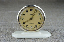 Slava vintage desk table alarm mechanical 1960 clock USSR Russian fit junghans