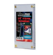(10) Ultra Pro 4 Screw Screwdown Recessed Sports Card Holder PVC FREE SHIPPING