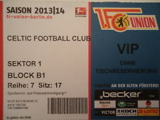 VIP TICKET Friendly 2013/14 Union Berlin - Celtic FC