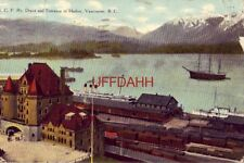 1914 B. C. P. Ry. DEPOT AND ENTRANCE TO HARBOR, VANCOUVER, B.C. CANADA