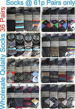 36 Christmas Gift Designer Quality Men Gents Suit Socks Wholesale Lot Car Boot