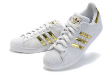 BASKETS ADIDAS SUPERSTAR de couleur : Blanche & doré, P36 à P44