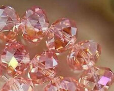 300pcs Pink AB Faceted crystal Loose Beads 3x4mm LL008