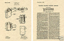ZIPPO Lighter US PATENT Art Print READY TO FRAME! Original 1936 Gimera Pocket