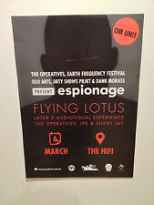 FLYING LOTUS 2014 Australian Tour Poster A2 *BRISBANE HI FI ONLY* OM UNIT ***NEW