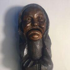 Ancien Casse Noix Sculpté Moine Signé J. Martin XIXeme Art Populaire