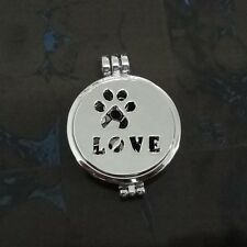 Dog Foot Pendant Aromatherapy Aroma Diffuser Luminous Necklace With Pads