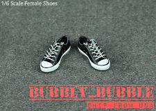 1/6 Female Shoes Converse Sneakers Lace Up B For Hot Toys Phicen SHIP FROM USA