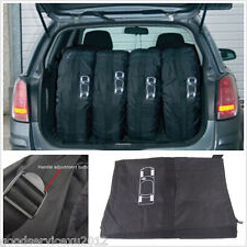 "4 Pcs Black Nylon Automobile Seasonal Storage Bag Protector Carry Covers 13""-19"""