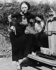 1933 Bank Robber BONNIE PARKER Glossy 8x10 Photo Criminal Clyde Print Poster