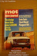 MOT 23/72 Opel Rekord D Peugeot 104 Alfasud Fiat 126