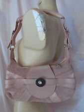 Just Cavalli Amazing Pink Leather/Suede Small Handbag with Jewelry EUC