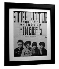 STIFF LITTLE FINGERS+SLF+PUNK POSTER AD+1980+FRAMED+ORIGINAL+FAST GLOBAL SHIP